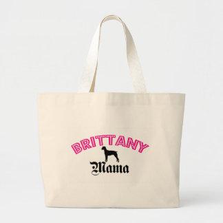 Brittany Spaniel Mama Large Tote Bag