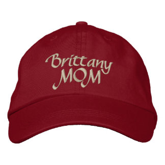 Brittany Spaniel Mom Gifts Embroidered Hats
