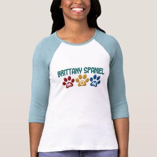 BRITTANY SPANIEL MOM Paw Print 1 Tee Shirt
