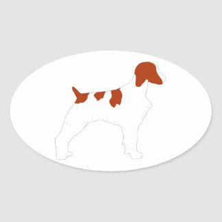 Brittany Spaniel Oval Sticker
