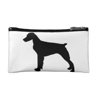 Brittany Spaniel Silhouette Love Dogs Silhouette Cosmetics Bags