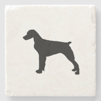 Brittany Spaniel Silhouette Love Dogs Silhouette Stone Coaster