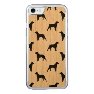 Brittany Spaniel Silhouettes Pattern Carved iPhone 8/7 Case