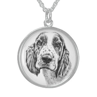 Brittany Spaniel Sterling Silver Necklace