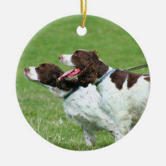 Brittany Spaniels ornament