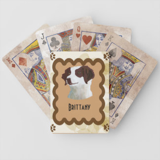 Brittany ~ Tan Leaves Motiff Bicycle Playing Cards