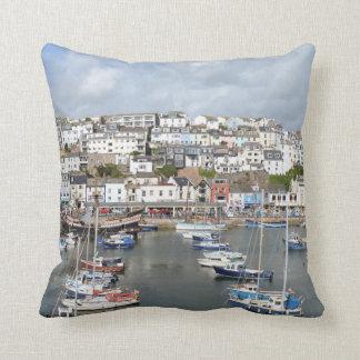 Brixham, Devon, England Throw Cushion/Pillow Throw Pillow