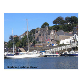 Brixham Harbour Devon Postcard