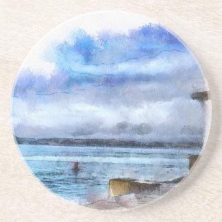 Brixham Lighthouse Watercolour Drink Coaster