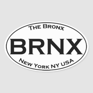 BRNX - The Bronx New York Oval Logo Oval Sticker