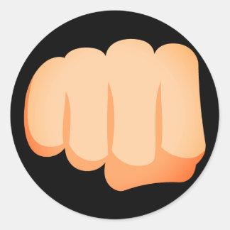 Bro Fist Emoji Round Sticker