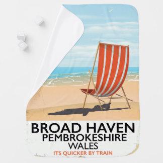 Broad Haven, Pembrokeshire,Wales seaside Baby Blanket