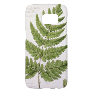 Broad Prickly-toothed Buckler Fern, painted at Bra Samsung Galaxy S7 Case