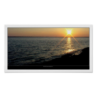 Broad River at sunset Poster