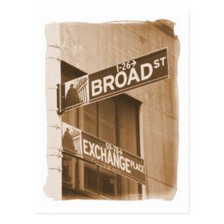 Broad St. Exchange Place Postcard