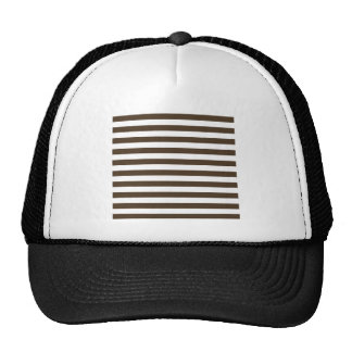 Broad Stripes - White and Cafe Noir Trucker Hat