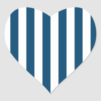 Broad Stripes - White and Indigo (Dye) Heart Sticker