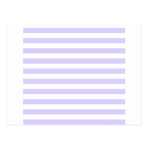 Broad Stripes - White and Pale Lavender Postcards