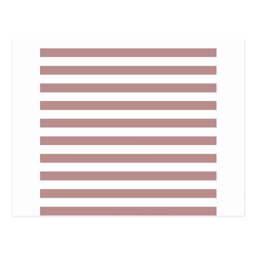 Broad Stripes - White and Rosy Brown Postcards
