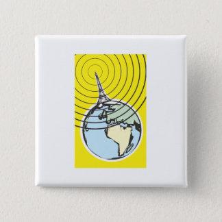 Broadcast Earth 2 Inch Square Button