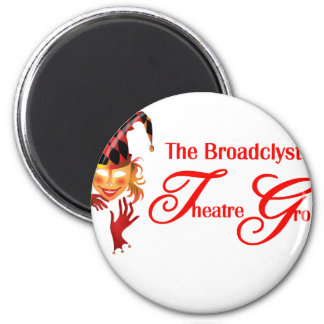 Broadclyst theatre group 2 inch round magnet