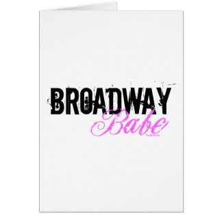 Broadway Babe Card