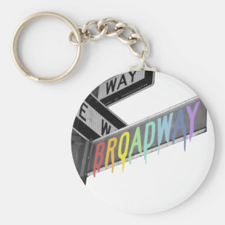 Broadway Basic Round Button Keychain