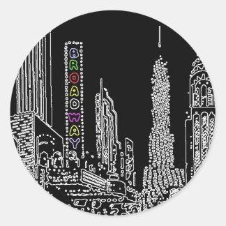 Broadway Bound Classic Round Sticker