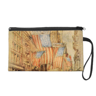 Broadway Election Day Flag New York City Vintage Wristlet Clutches
