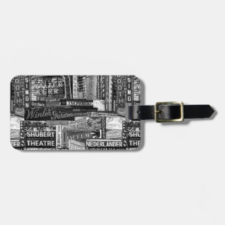 Broadway Luggage Tag (B&W)
