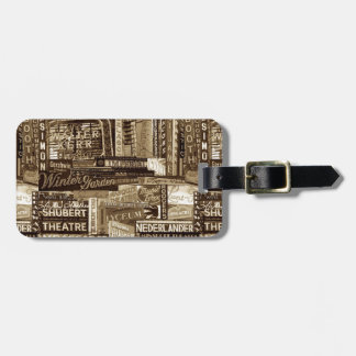 Broadway Luggage Tag (Sepia)