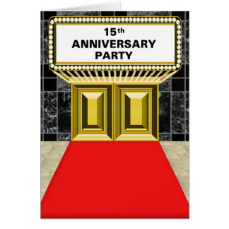 Broadway Marquee Red Carpet 15 th Anniversary Card