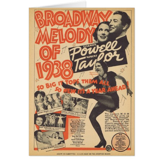 Broadway Melody of 1938 Card