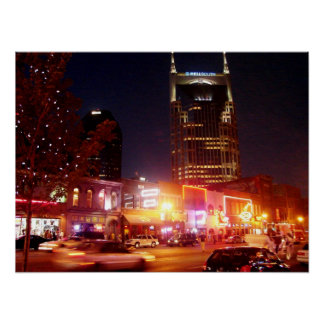 Broadway - Nashville, Tennessee Poster