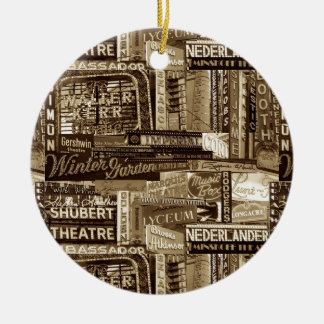 Broadway Ornament (Sepia)
