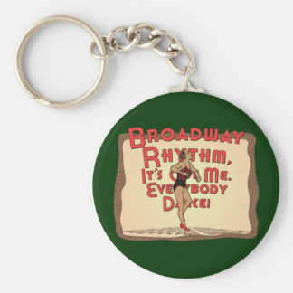 Broadway Rhythm /  Everybody Dance Basic Round Button Keychain
