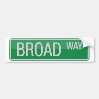 Broadway road sign bumper sticker