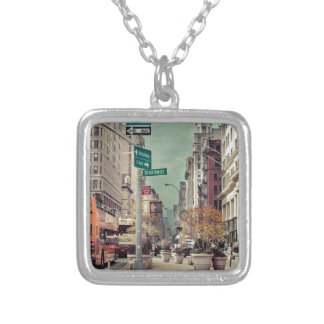 broadway silver plated necklace
