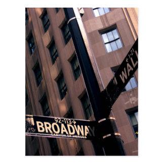 Broadway/Wallstreet Postcard