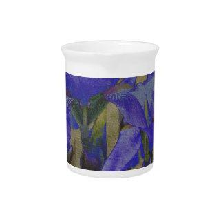 Broc de jardin d'iris pichets à eau