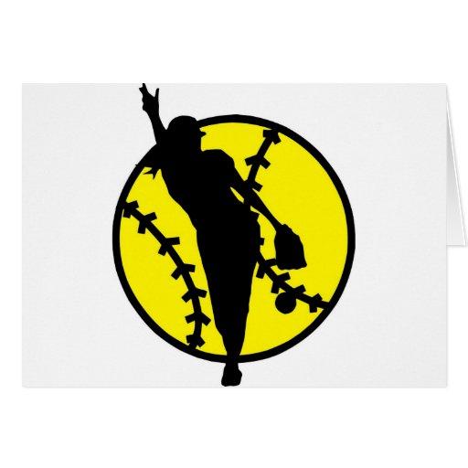 Broc du base-ball cartes de vœux