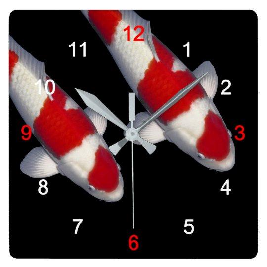 Brocade carp, KOI Clocks