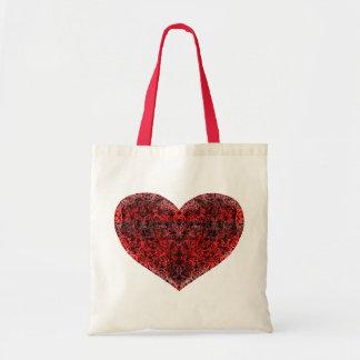Brocade Heart Budget Tote Bag