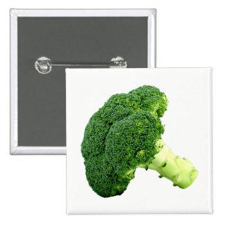 Broccoli 2 Inch Square Button