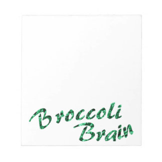 Broccoli brain notepad