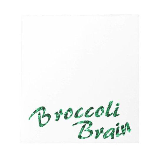 Broccoli brain notepad
