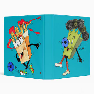 "'Broccoli Bruno and Fred Fries' 1"" Binder"