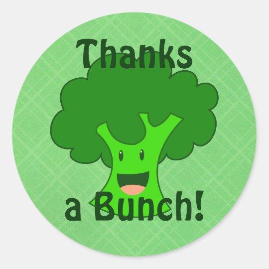 Broccoli Bunch Classic Round Sticker