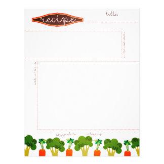 Broccoli carrot vegetables sides recipe letterhead
