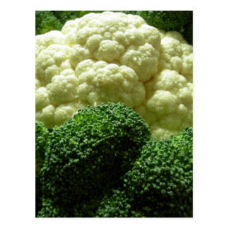 Broccoli & cauliflower postcard